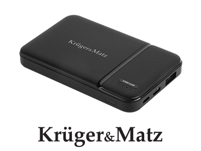 POWER BANK 5000MAH LI-POL KRUGER&MATZ (KM0902)