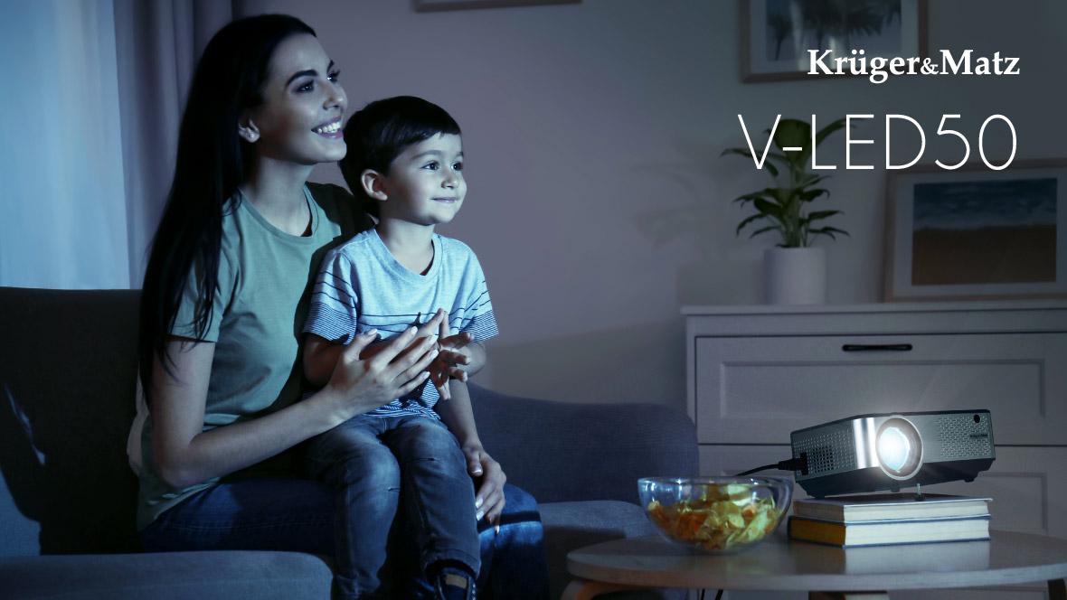 Proiector LED Kruger&Matz V-LED50 pentru acasa