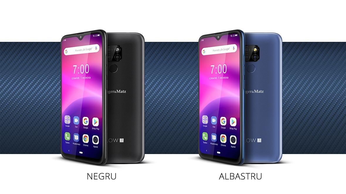 Smartphone FLOW 7S in doua culori: negru si albastru