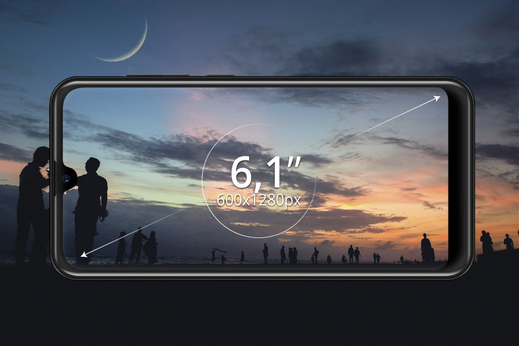 Smartphone cu display de 6,1""