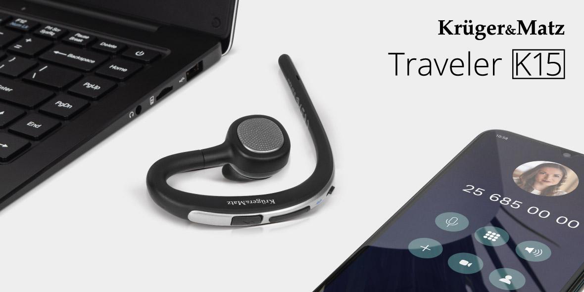 Headset Bluetooth Kruger&Matz Traveler K15