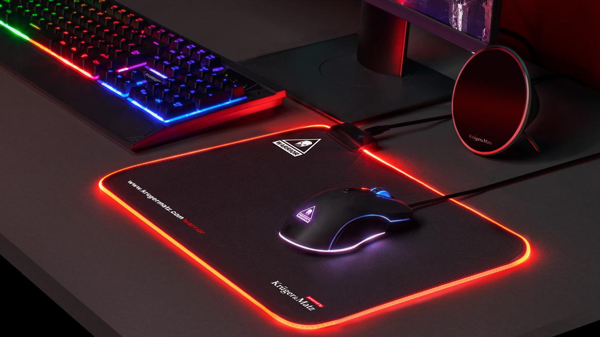 Mouse pad gaming iluminat LED Kruger&Matz Warrior